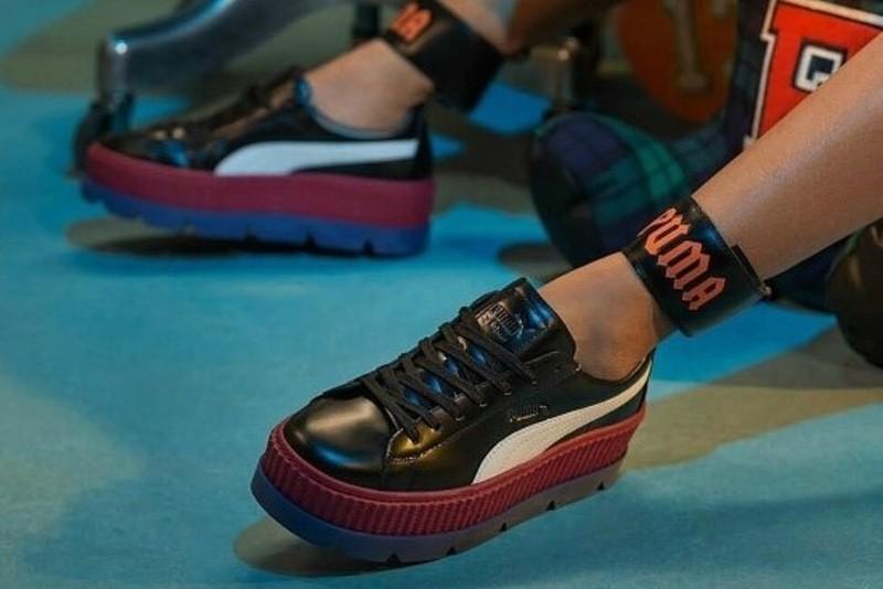 [해외] 퓨마 앵클스트랩 스니커 x 펜티 바이 리한나 Puma Ankle Strap Sneaker x Fenty By Rihanna Black Redbud 366264 01