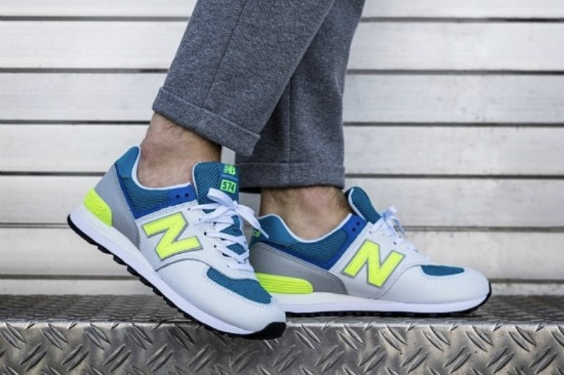 0795895cb9a9 해외] 뉴발란스574 New Balance 574 Deep Ozone Blue Bleached Lime ...