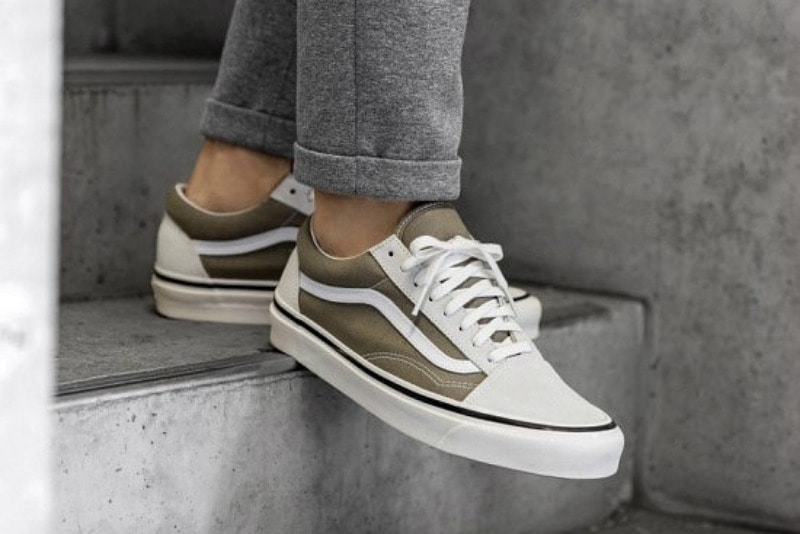 [해외]반스 올드스쿨 36 DX Vans Old Skool 36 DX OG White OG Birch VA38G2VRU