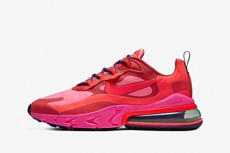 [해외]나이키 에어맥스270 리액트 Nike Air Max 270 React Mystic Red Pink Blast Habanero Red Bright Crimson ​AO4971-600​