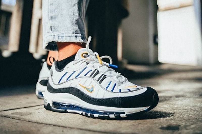 [해외]나이키 우먼스 에어맥스98 프리미엄 Nike W Air Max 98 Premium ​White University Gold Black Teal Nebula CI1901-102