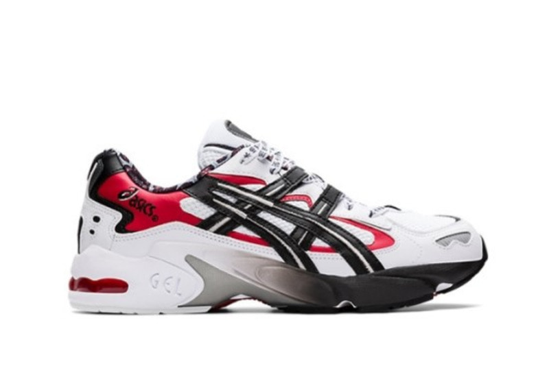 [해외]아식스 젤카야노5 OG Asics Gel Kayano 5 OG White Black Red 1021A182-100