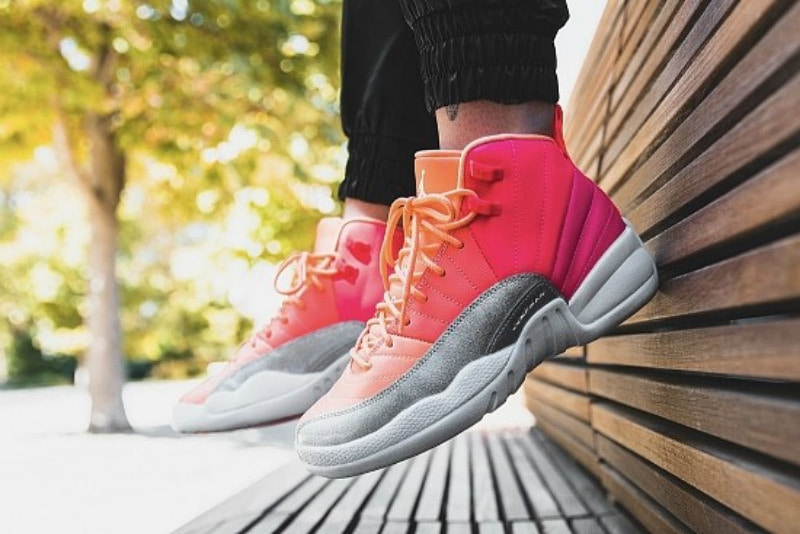 [해외]​나이키 GS 에어조던12 리트로 Nike GS Air Jordan 12 Retro Racer Pink White Hot Punch Bright Mango 510815-601