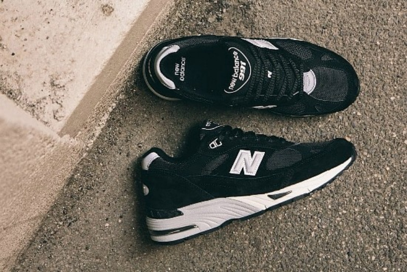 [해외]뉴발란스991 New Balance 991 Black Silver M991EKS