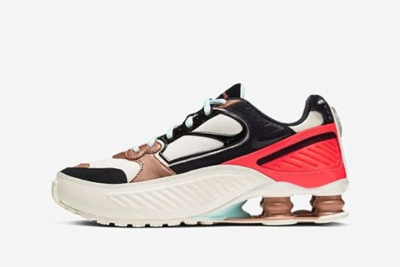 [해외]나이키 우먼스 샥스 이니그마 9000 Nike W Shox Enigma ​9000 Sail Metallic Red Bronze Pure Platinum Black CT3451-100