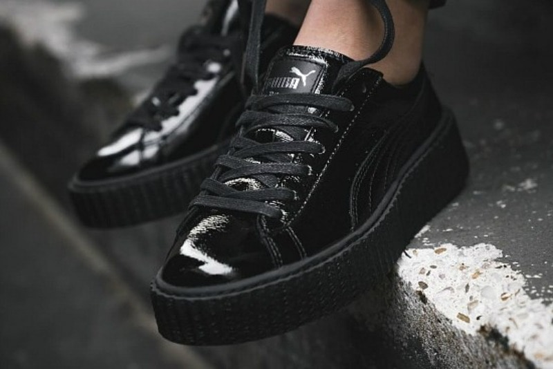[해외]퓨마 우먼스 클리퍼 x 펜티 바이 리한나 Puma W Creeper x Fenty By Rihanna Wrinkled Patent​ Cracked Black​ 364465-01