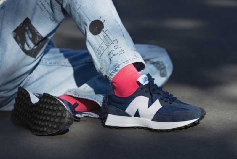 [해외]뉴발란스327 네이비 New Balance 327 Natural Indigo Munsell White MS327CPD