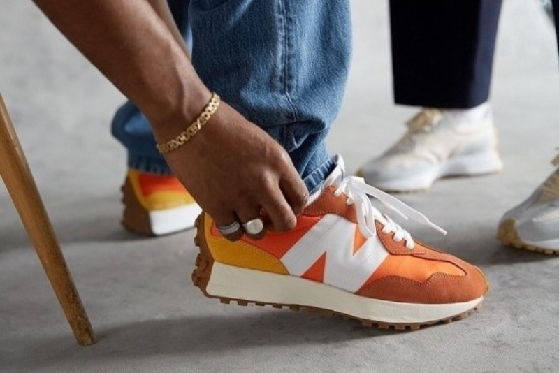 [해외]뉴발란스327 오렌지 New Balance 327 Varsity Orange Aspen Gold MS327CLA